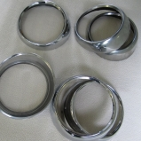 Chrome rings city & indicator lights for Lancia Flavia